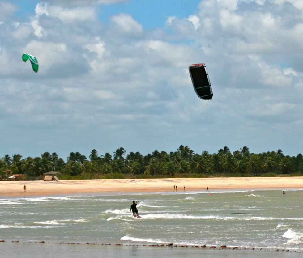 Kitesurfing in São Miguel do Gostoso