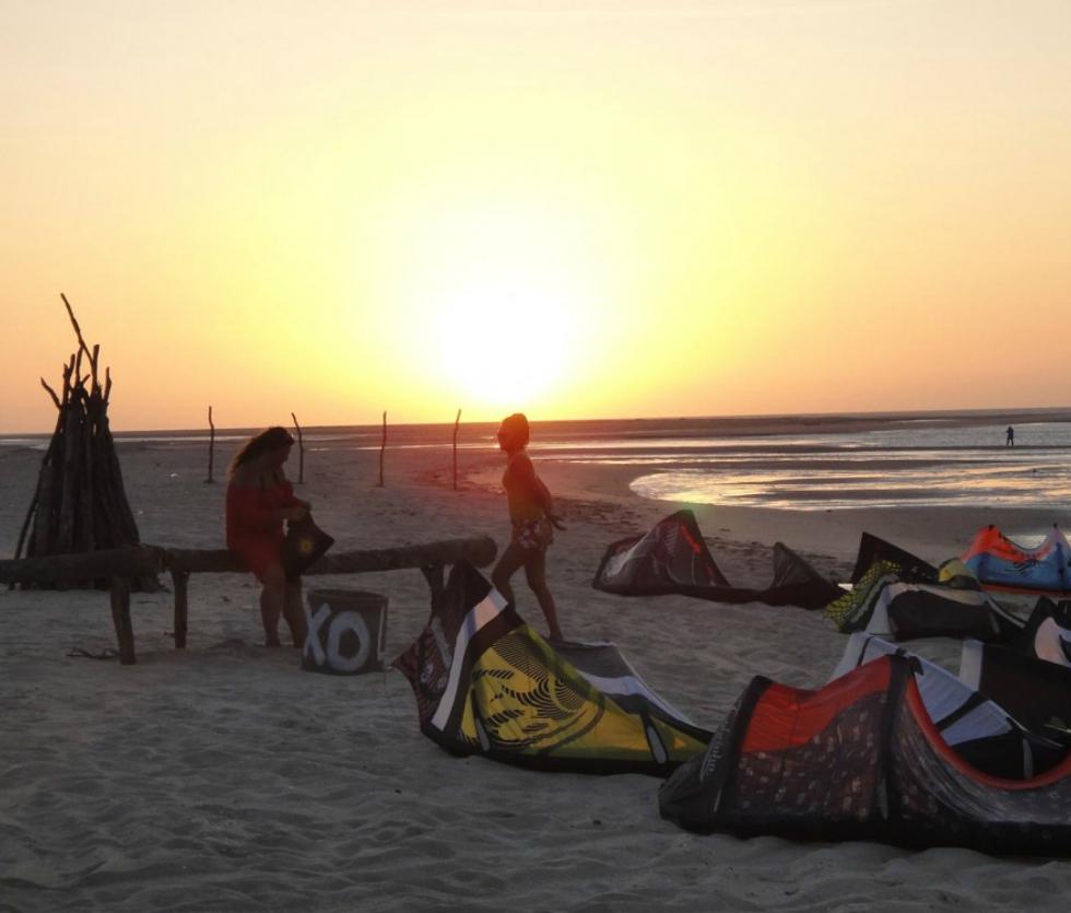 Kitesurfing in Tatajuba
